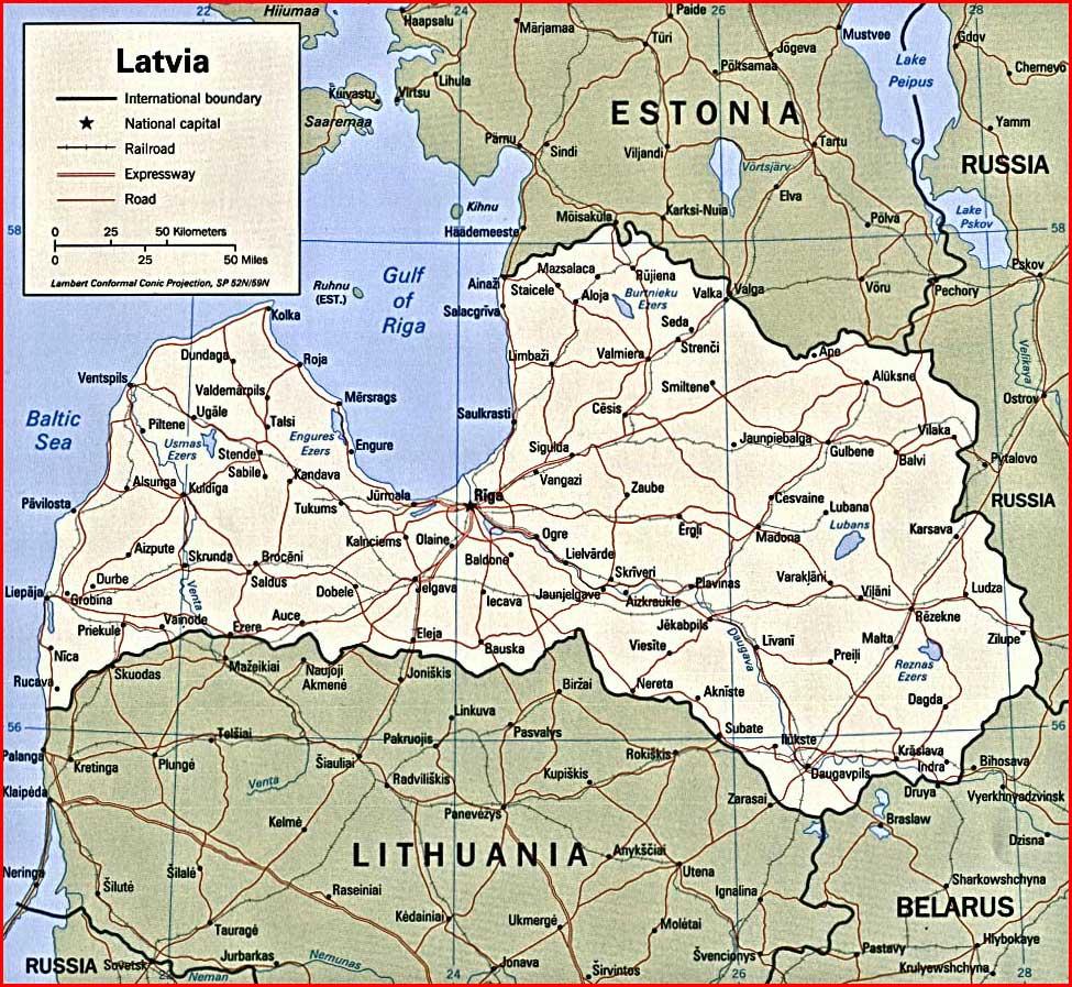 image: Latvia Political Map