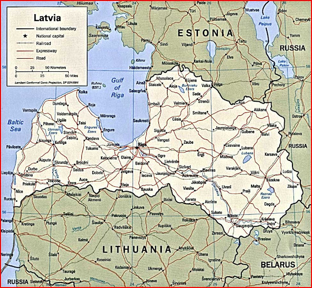 image: Latvia Political Map