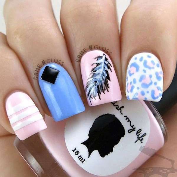 Feather Nail Art Design 2016 | Fashion Newby\'s