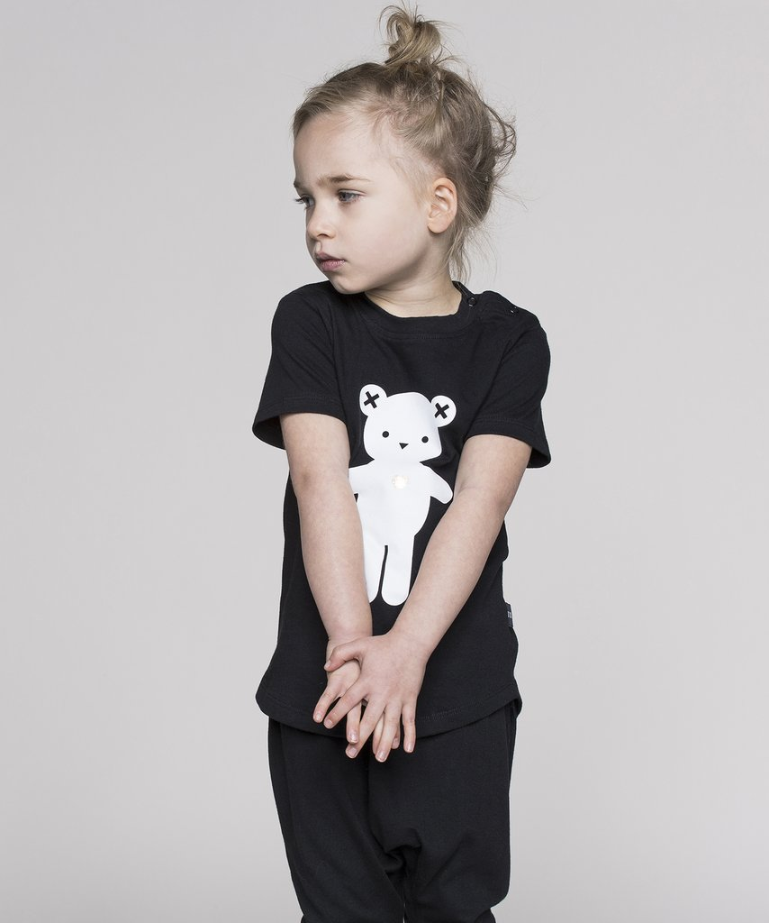 Huxbaby - monochrome kids fashion SS16/17 - black bear tee