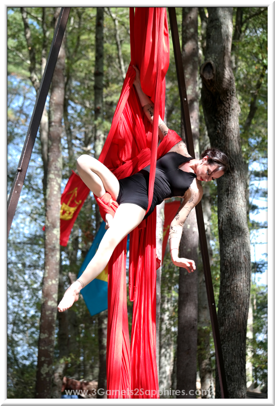Draiku Aerial Show at King Richard's Faire  |  3 Garnets & 2 Sapphires