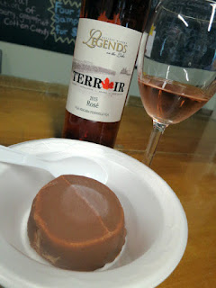 Legends Terroir Rosé paired with Chocolate Ice Cream with Raspberry Center