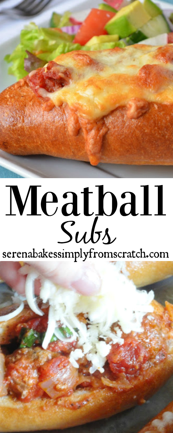 Meatball Subs are always a family favorite! www.serenabakessimplyfromscratch.com