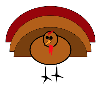 Turkey with three different color tail feathers