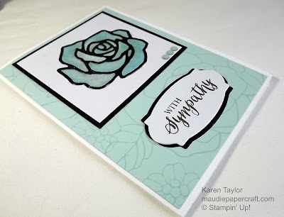 Stampin' Up! Rose Garden thinlits and Rose Wonder stamp set