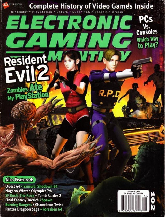 VGJUNK RESIDENT EVIL MAGAZINE COVERS - Magazines look superheroes real