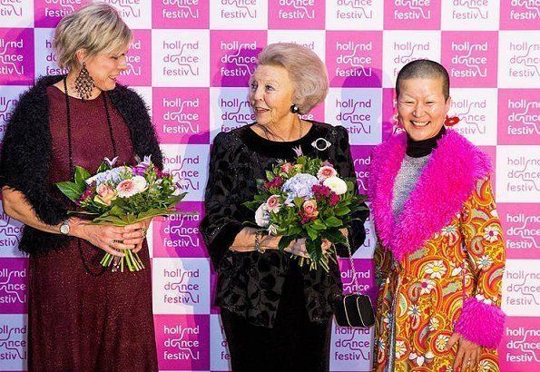 Princess Beatrix, Princess Laurentien and Prince Constantijn attended opening of Holland Dance Festival