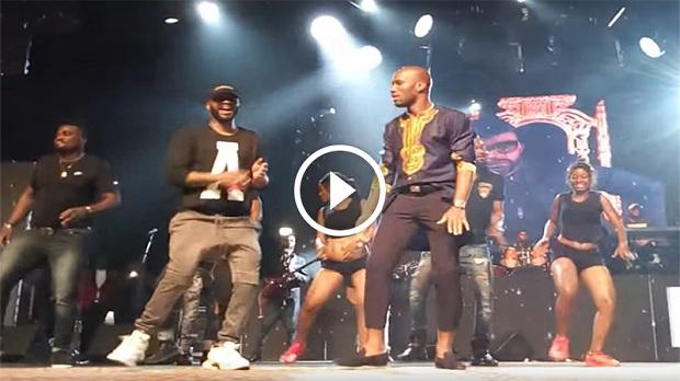 Vidéo - Quand Fally Ipupa invite Samue Eto'o et Didier Drogba sur scène