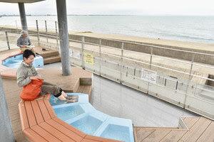 海洋深層水足湯オープン ほたるいかミュージアム