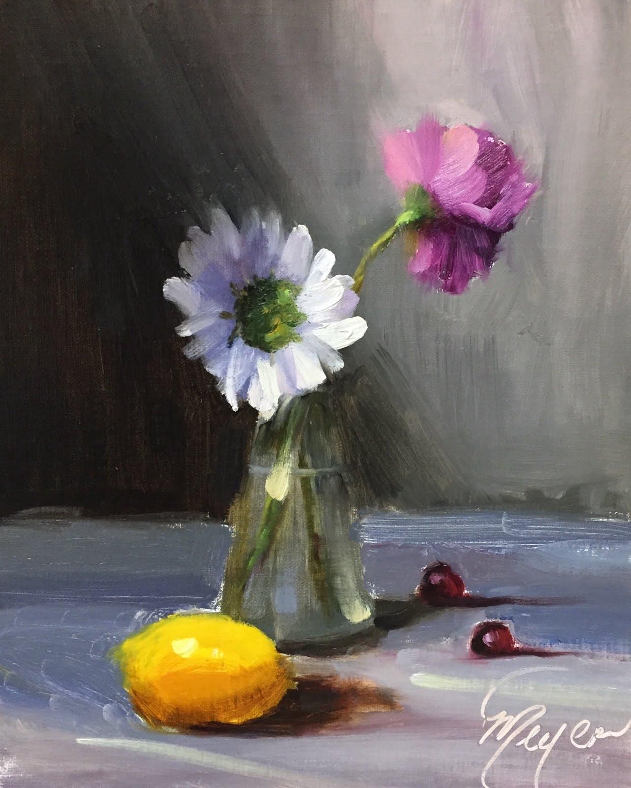 Beginner Oil Painting Class Demo By Artist Pat Meyer