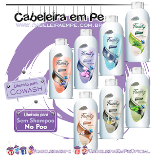 Condicionadores Family Plus - Kelma (Babosa, Ceramidas, Mandioca, Menta e Hortelã, Neutro, Óleo de Coco e Queratina) - No Poo