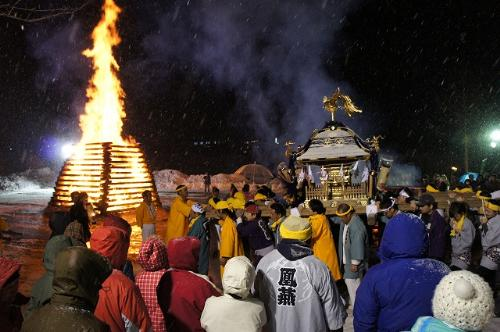 Koshimoto Goshinbisai (Fire Festival) at Katashina Village, Gunma Pref.