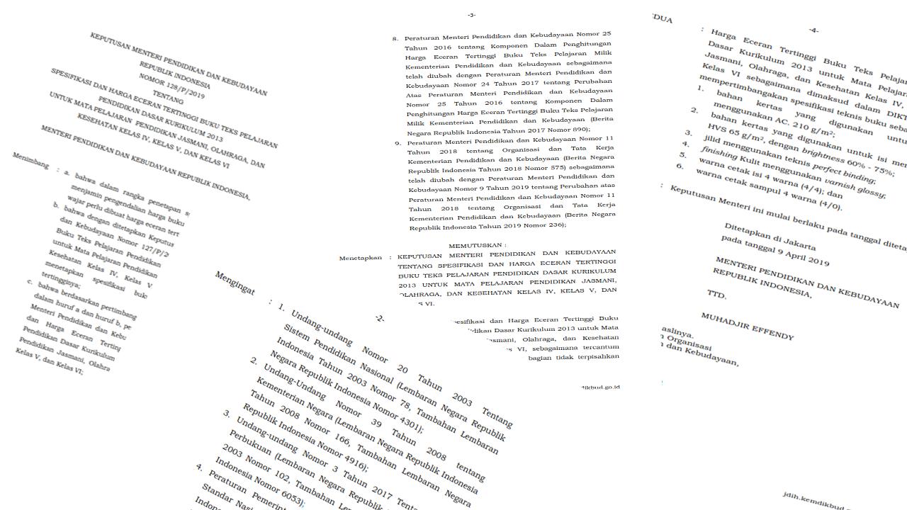 HET Buku PJOK SD Nomor 128/P/2019 Kurikulum 2013