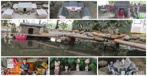 大里溪橋下小人國,阿伯利用資源回收物建造的農村小人國