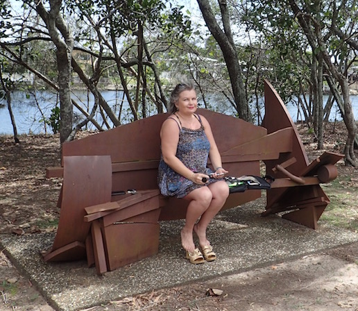 Gold Coast Art Centre bench in Evansdale sculpture walk