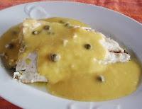 dorada con salsa de alcaparras