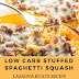LOW CARB STUFFED SPAGHETTI SQUASH LASAGNA BOATS RECIPE WITH MEAT