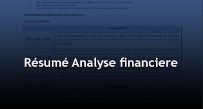 Résumé analyse financière PDF
