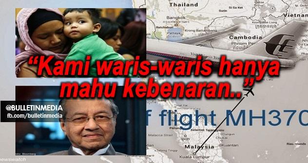 """Isteri Pramugara MH370... """"Saya Tahu Tun M Ramai Kawan Dan Ada Kabel Besar, Boleh Tak Tun M Kongsi Di Mana MH370 Dan Apa Yang Terjadi ?"""