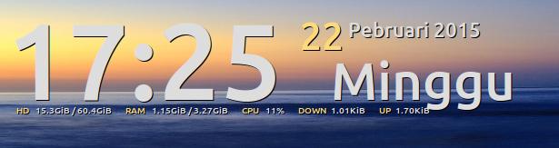 Conky Manager - Mempercantik Tampilan Desktop Dengan Conky