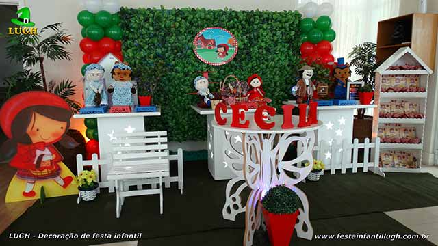 Decoração Chapeuzinho Vermelho para festa de aniversário infantil - Barra - RJ