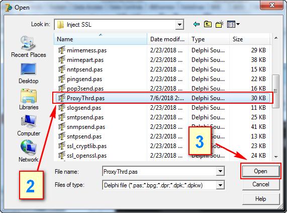 Tutorial Bagaimana Cara Membuat Inject SSL Dengan Delphi 7