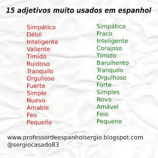 15 adjetivos muy usados en portugués