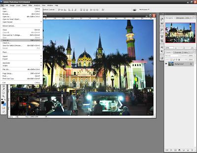 Membuka dan Menyimpan File dalam Photoshop