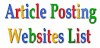 TOP 20 FREE ARTICLE SUBMISSION WEBSITES LIST