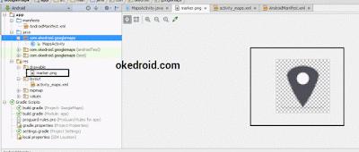 Lokasi Marker Gambar  Sekitar User Google Maps Android Studio