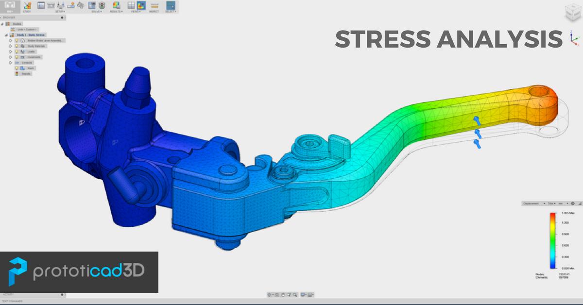 Análisis de estrés con Inventor Simulación