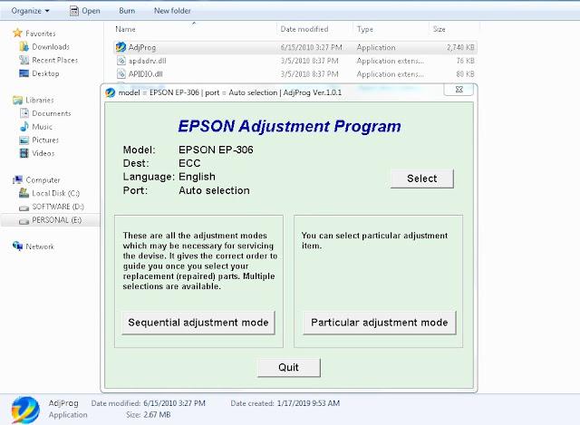 Epson EP-306 RESTTER