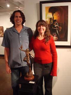 Male Art model David Sackmary with artist Kelly Borsheim 2011