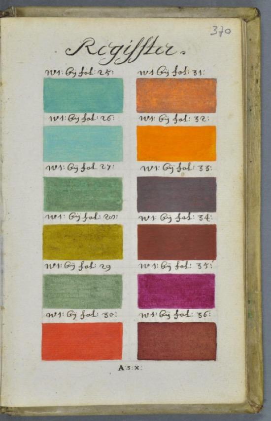 Página de la guía de color de Boogert