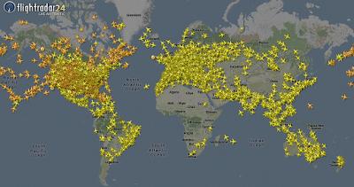 quanti aerei sono in volo curiosità