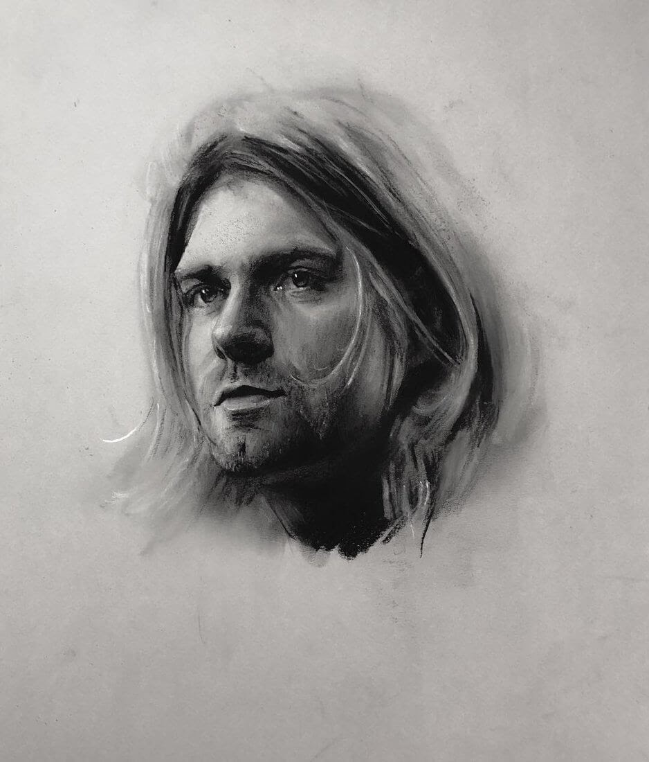 08-Kurt-Cobain-Rick-Young-Celebrity-and-More-Charcoal-Portraits-www-designstack-co