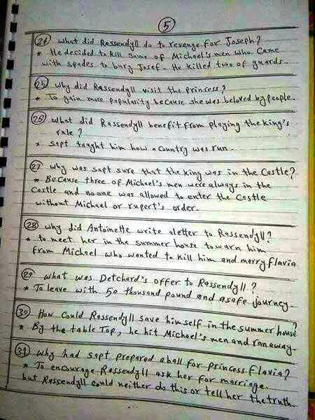 بالاجابات: أهم أسئلة سجين زندا في 7 ورقات 5