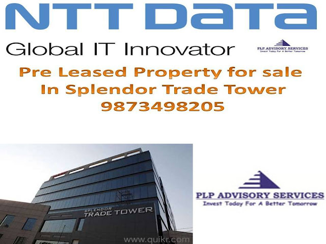 Pre rented office space for sale in Splendor trade tower Golf course extension road Gurgaon:9873498205