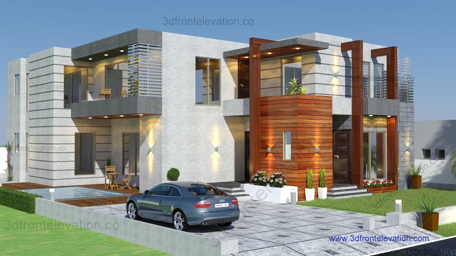 D Front Elevation Designs : D front elevation portfolio