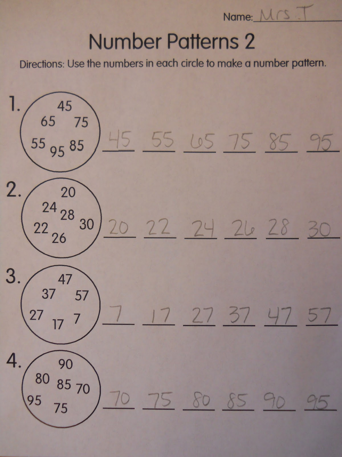 In And Out Rule Math Worksheet For Grade 1