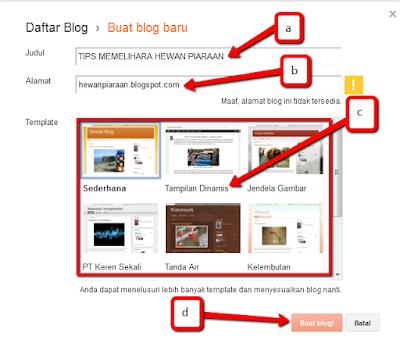 Cara mempostiong arikel di blog blogger