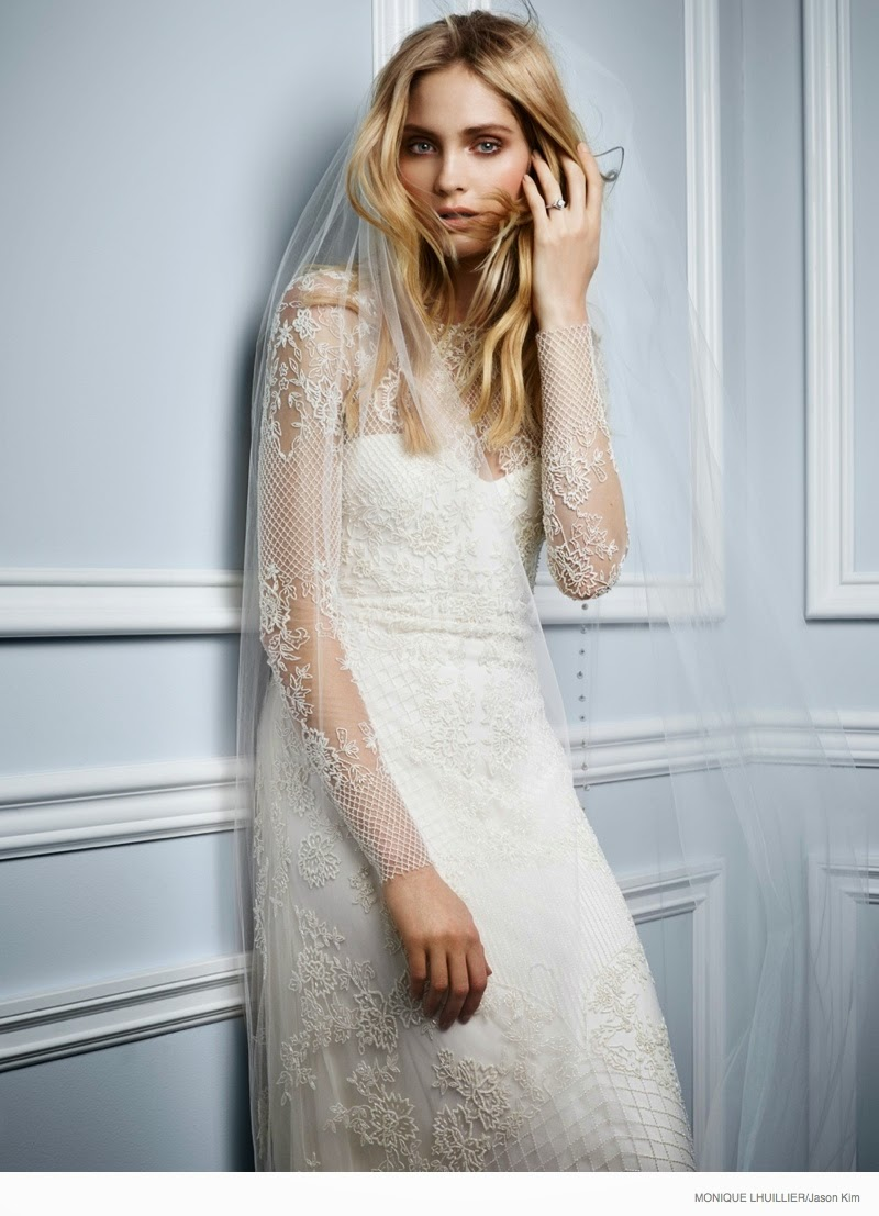Monique Lhuillier Spring/Summer 2015 Bridal Campaign featuring Heidi ...