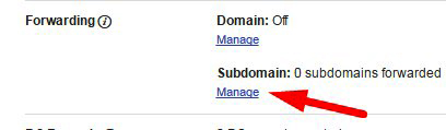domain name forwarding