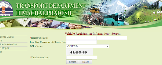 HP (Himachal Pradesh) RTO registration number search vahan.hp.nic.in