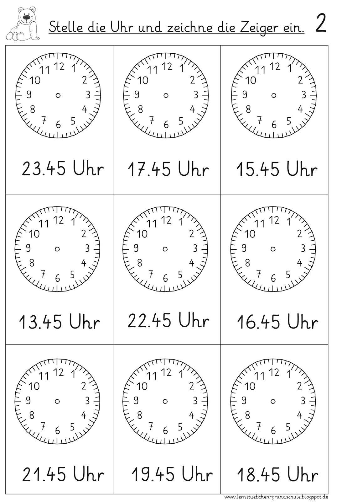 Lernstubchen Vorgegebenen Uhrzeiten Einstellen 5