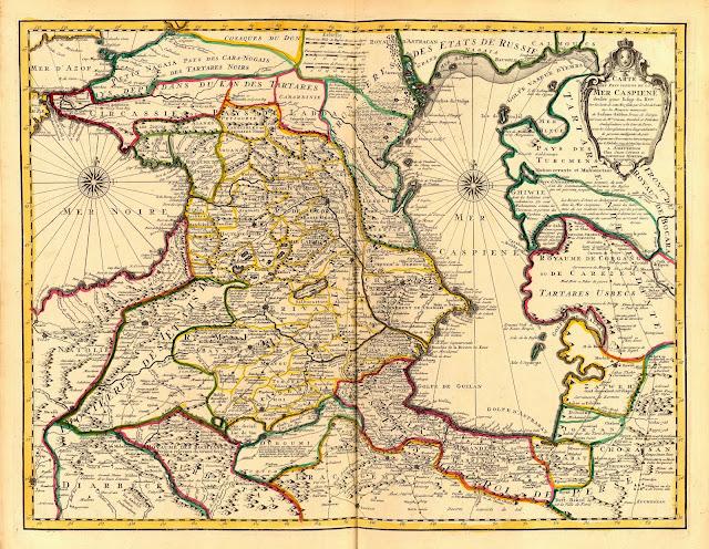 Каспийское море и прилегающие области в 1723,
