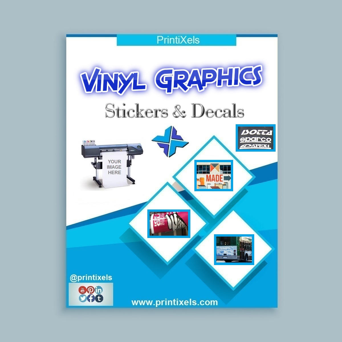 Custom vinyl graphics stickers decals