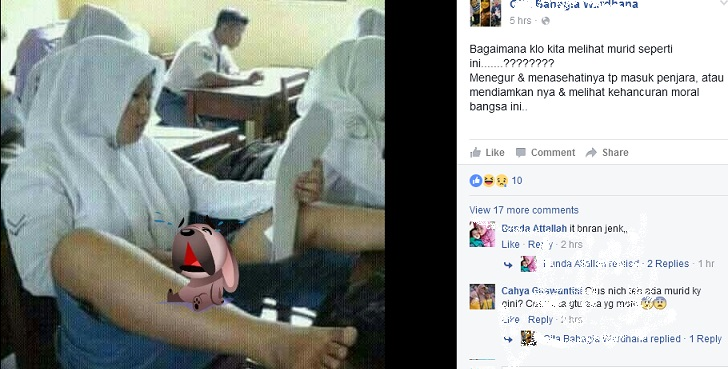 Foto Viral Anak SMA / SMU / SMK Kaki Di Meja ini Kata Guru !