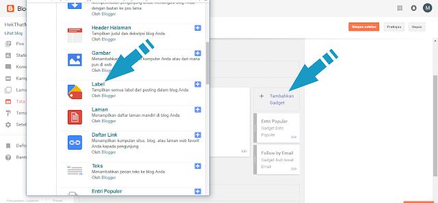 Cara Membuat atau Memasang Widget Label di Blogger 2017