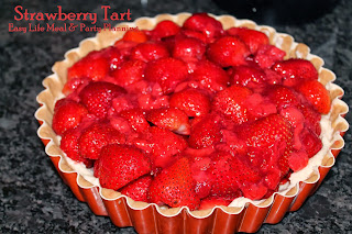 Cream Filled & Glazed Fesh Strawberry Tart - Easy Life Meal & Party Planning